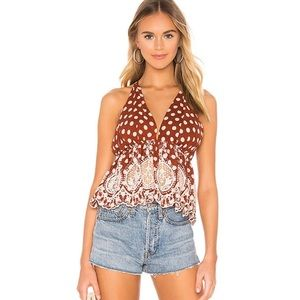NWT Free People Wild Wild West Combo Halter Top